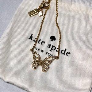 Kate Spade butterfly necklace